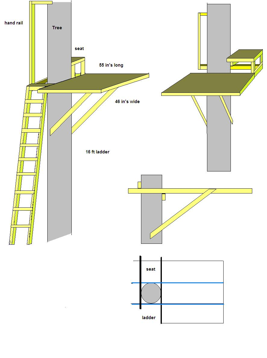 Woodwork tree stand plans pdf plans for Climbing tree stand plans